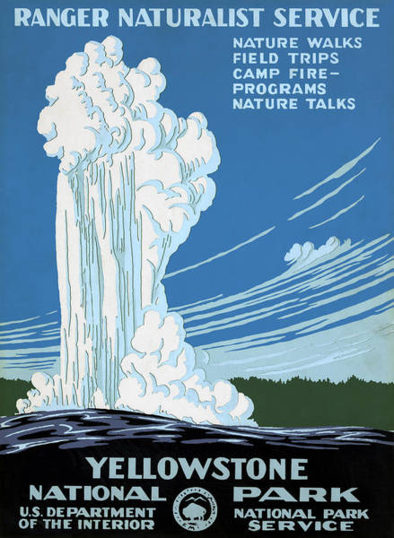 Photograph - Yellowstone Poster, C1938 by Granger