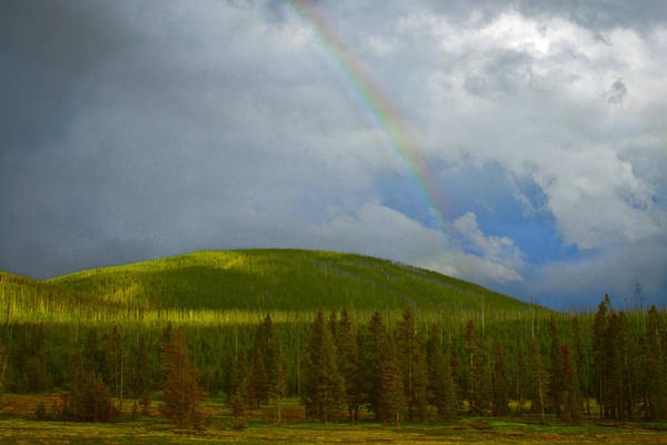 Photograph - Yellowstone Rainbow by Jack R Perry