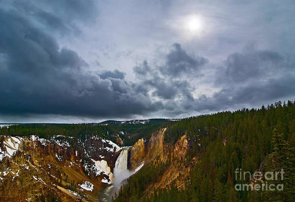 Yellowstone Canyon Photograph - Yellowstone Storm by Jamie Pham