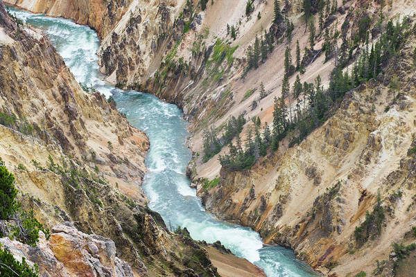 Yellowstone Canyon Photograph - Yellowstones Power Of The River by Gail Shotlander