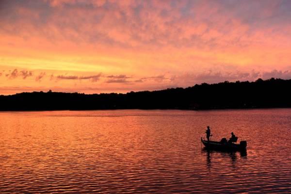 Photograph - Fishermen On Sweetwater Lake by Walt Sterneman