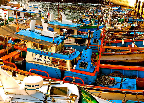 Photograph - Jeju Boats by Yen