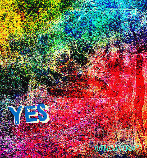 Wall Art - Digital Art - Yes by Currie Silver