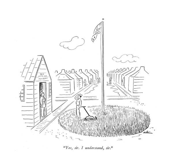 Gardener Drawing - Yes, Sir. I Understand, Sir by  Alain