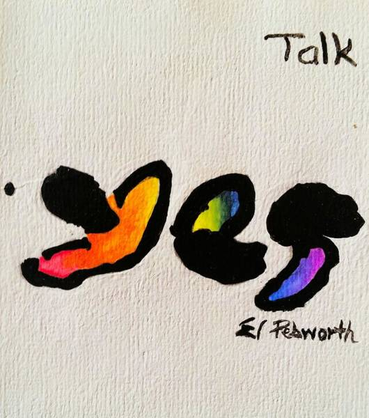 Inking Wall Art - Painting - Yes   Talk by Edward Pebworth