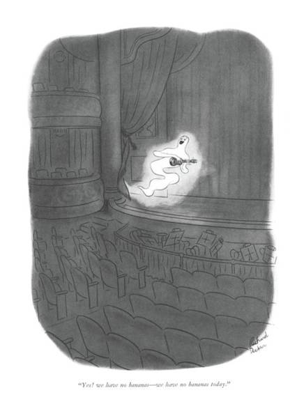 Ghosts Drawing - Yes! We Have No Bananas - We Have No Bananas by Richard Decker