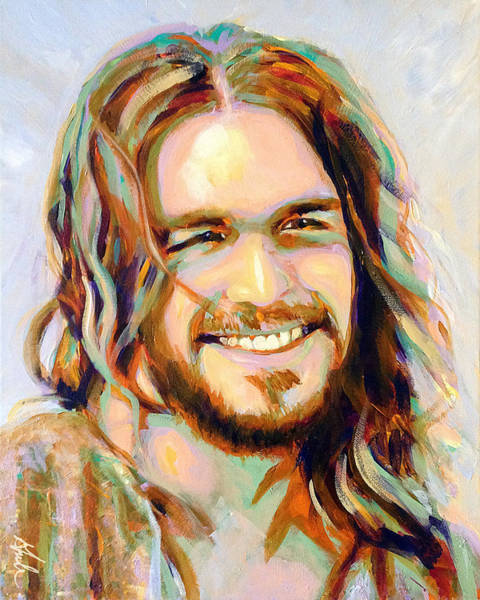 Happiness Painting - Yeshua by Steve Gamba
