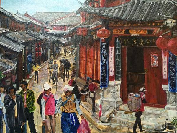 China Town Painting - Yesterday Once More by Belinda Low