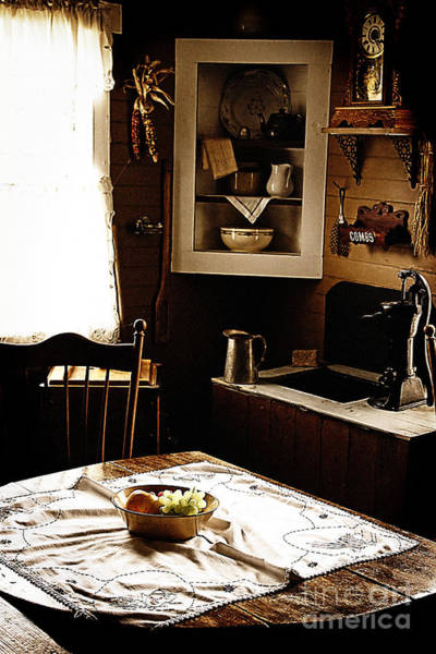 Photograph - Yesteryears Kitchen by Lincoln Rogers