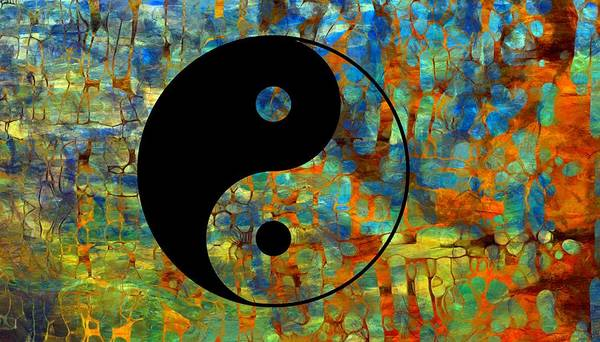 Wall Art - Digital Art - Yin Yang Abstract by Dan Sproul