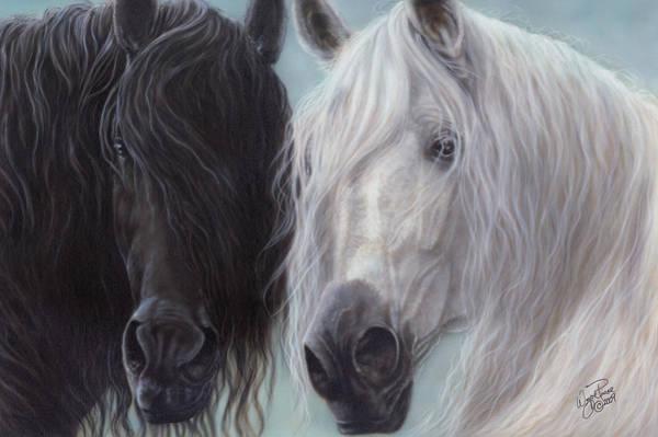 North Dakota Painting - Yin-yang Horses  by Wayne Pruse