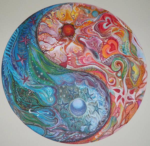 Yin Yang Mandala Art Print by Moira Gil