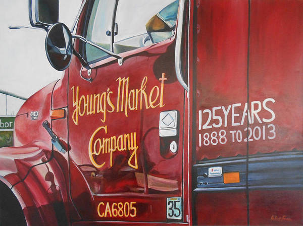 Delivery Truck Painting - Ymco 125 by R F Aitken