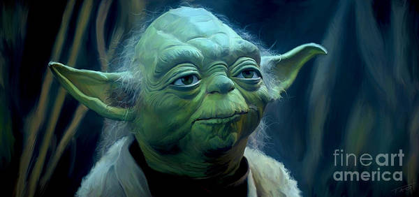 Star Wall Art - Painting - Yoda by Paul Tagliamonte