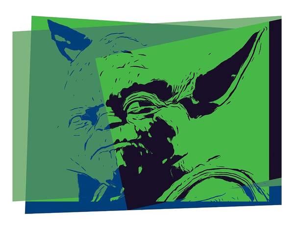 Yoda Digital Art - Yoda Pop Art by Dan Sproul