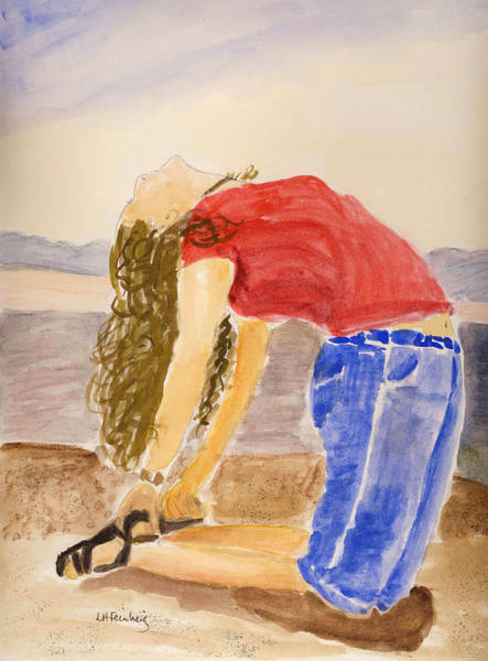 Painting - Yoga In Utah by Linda Feinberg