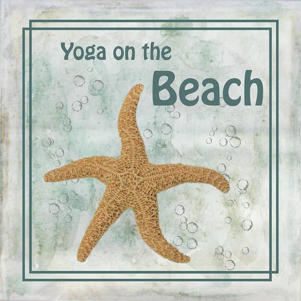 Starfish Painting - Yoga On The Beach by Ramona Murdock