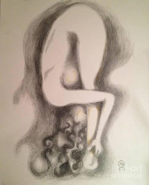 Drawing - Yoga Pose by Marat Essex