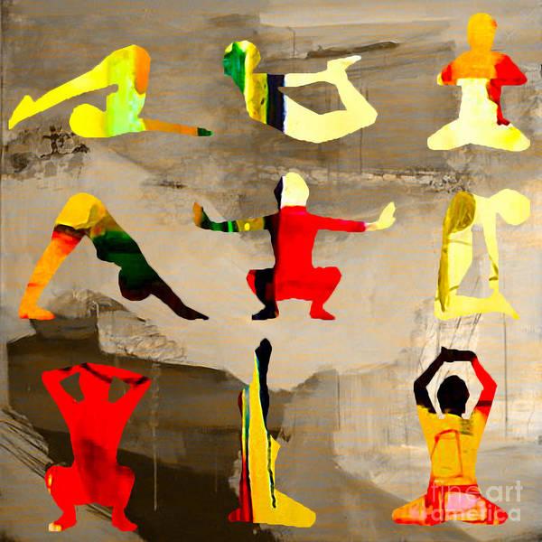 Wall Art - Mixed Media - Yoga Poses by Marvin Blaine