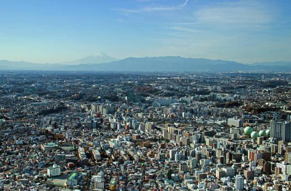 Kanagawa Wall Art - Photograph - Yokohama And Mt. Fuji by Lisa Lyons - Moments In Time
