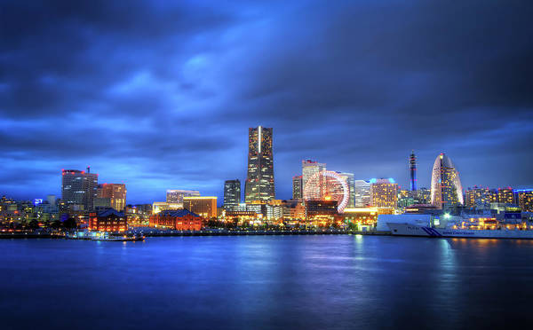 Kanagawa Wall Art - Photograph - Yokohama Skyline by Agustin Rafael C. Reyes