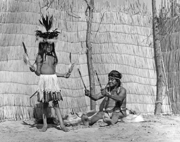 Photograph - Yokut Medicine Man by Underwood Archives Onia