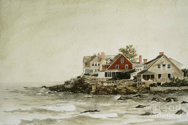 Painting - York Beach by Monte Toon