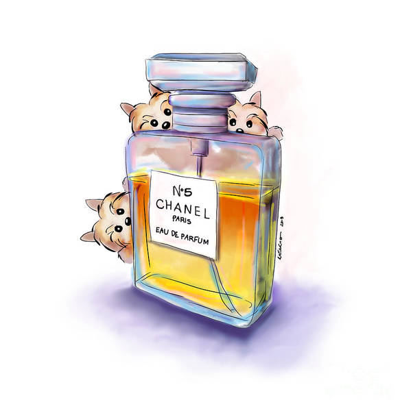 Yorkie Chanel Crazies Art Print