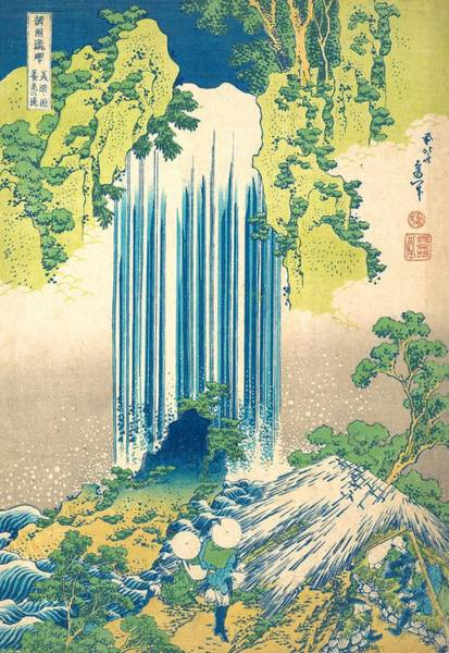 Hokusai Wave Wall Art - Painting - Yoro Waterfall In Mino Province by Katsushika Hokusai
