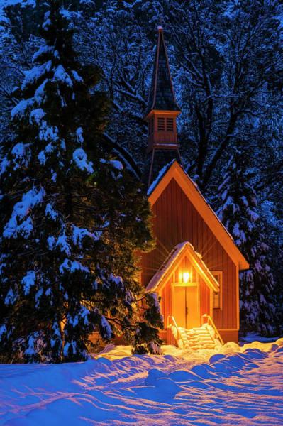 Wall Art - Photograph - Yosemite Chapel In Winter, Yosemite by Russ Bishop