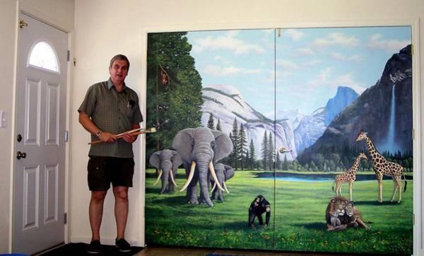 Painting - Yosemite Dreams Mural On Doors by Frank Wilson