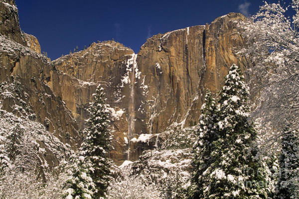 Photograph - Yosemite Falls And Lost Arrow Yosemite National Park  by Dave Welling