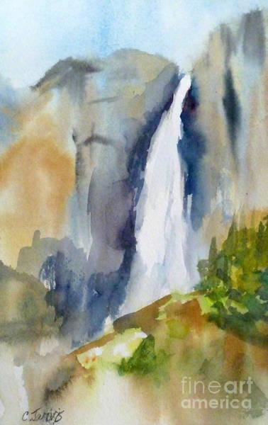 Painting - Yosemite Falls Springtime by Carolyn Jarvis