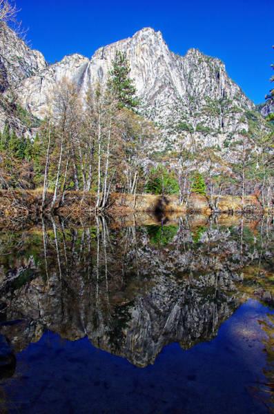 Photograph - Yosemite Falls Winter Reflection by Scott McGuire