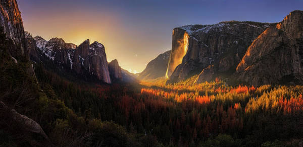 Seasonal Photograph - Yosemite Firefall by Yan Zhang