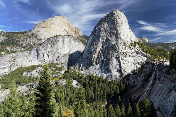 Wall Art - Photograph - Yosemite Mountains And Waterfall by Rogertwong