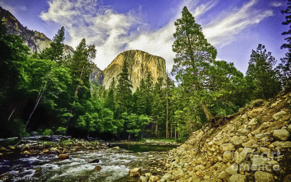 Digital Art - Yosemite National Park El Capitan by Bob and Nadine Johnston
