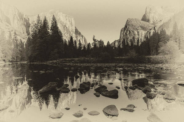 Photograph - Yosemite National Park Valley View Antique Print   by Scott McGuire