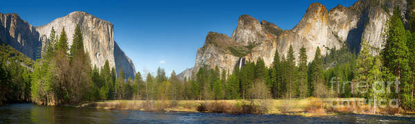 Yosemite Valley And Merced River Art Print