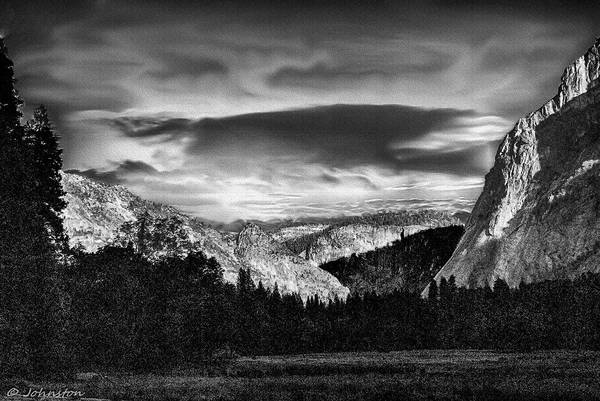 Photograph - Yosemite Valley Black And White by Bob and Nadine Johnston