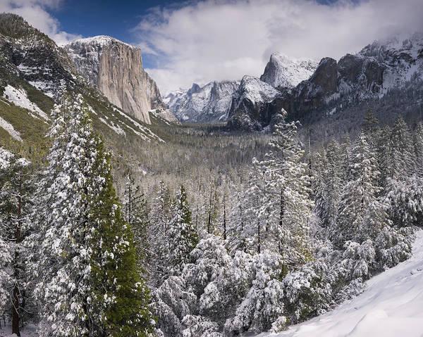 Yosemite Valley In Winter Art Print by Richard Berry