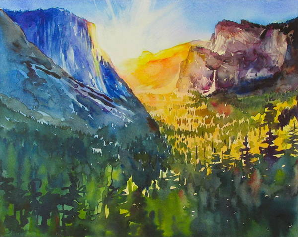 Painting - Yosemite Valley Morning by David Lobenberg