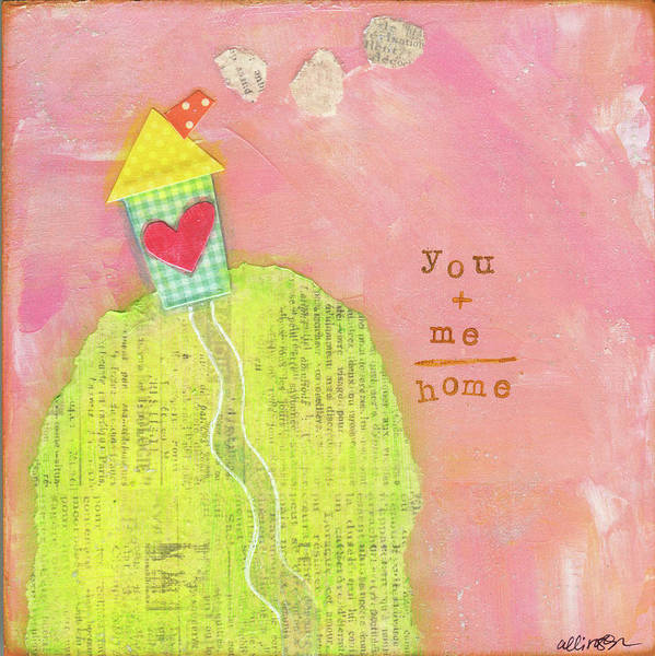 Wall Art - Painting - You + Me = Home by Alli Rogosich