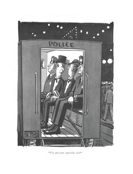 Drawing - You And Your Rapierlike Wit! by Peter Arno
