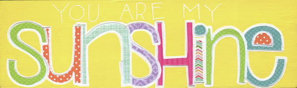 Wall Art - Painting - You Are My Sunshine I by Alli Rogosich