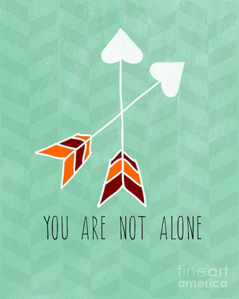 Boho Wall Art - Painting - You Are Not Alone by Linda Woods