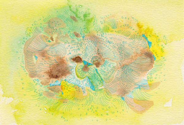 Organic Garden Drawing - You Are So Kind - #ss14dw059 by Satomi Sugimoto