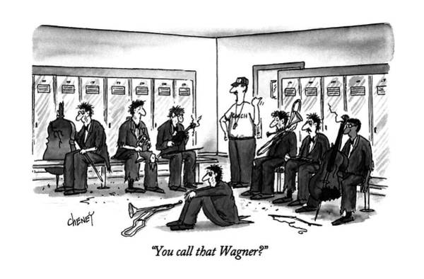 1996 Drawing - You Call That Wagner? by Tom Cheney
