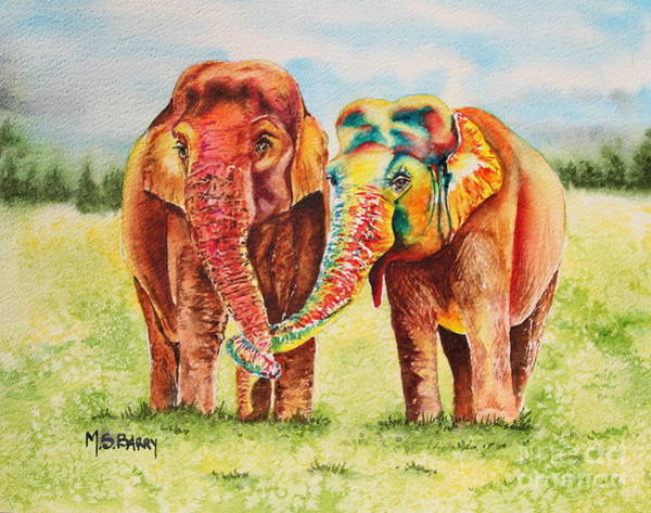 Painting - You Color My World by Maria Barry