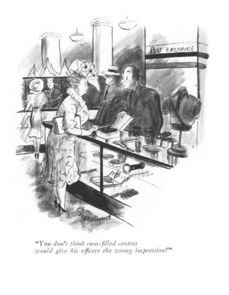 Alcoholism Drawing - You Don't Think Rum-?lled Centres Would Give by Barbara Shermund